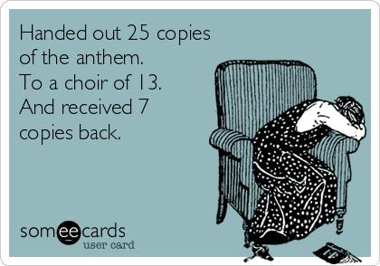 choir copies